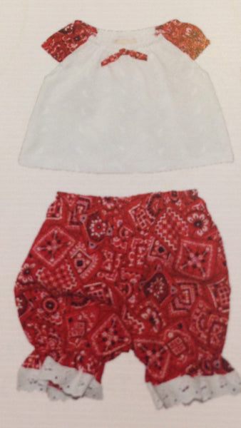 Haute Baby Rodeo Queen Bandana Diaper Cover Set (sz 0/3m-24m)