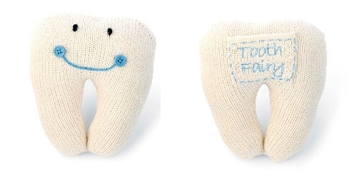 Mud Pie Blue Tooth Pillow