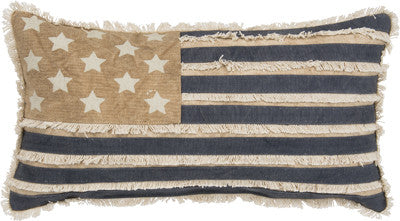Primitives by Kathy American Flag Pillow