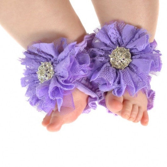 ToeBlooms Couture Precious Purple Blooming Wraps
