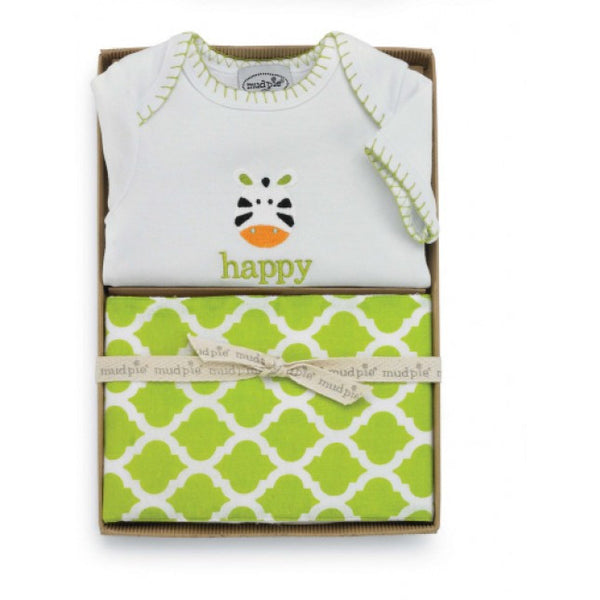 Mud Pie Zebra Crawler & Burp Set (sz 0-6m)