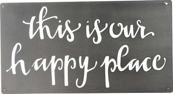 Metal Wall Art - Happy Place | PREORDER