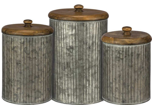 Canister Set - Galvanized | PREORDER