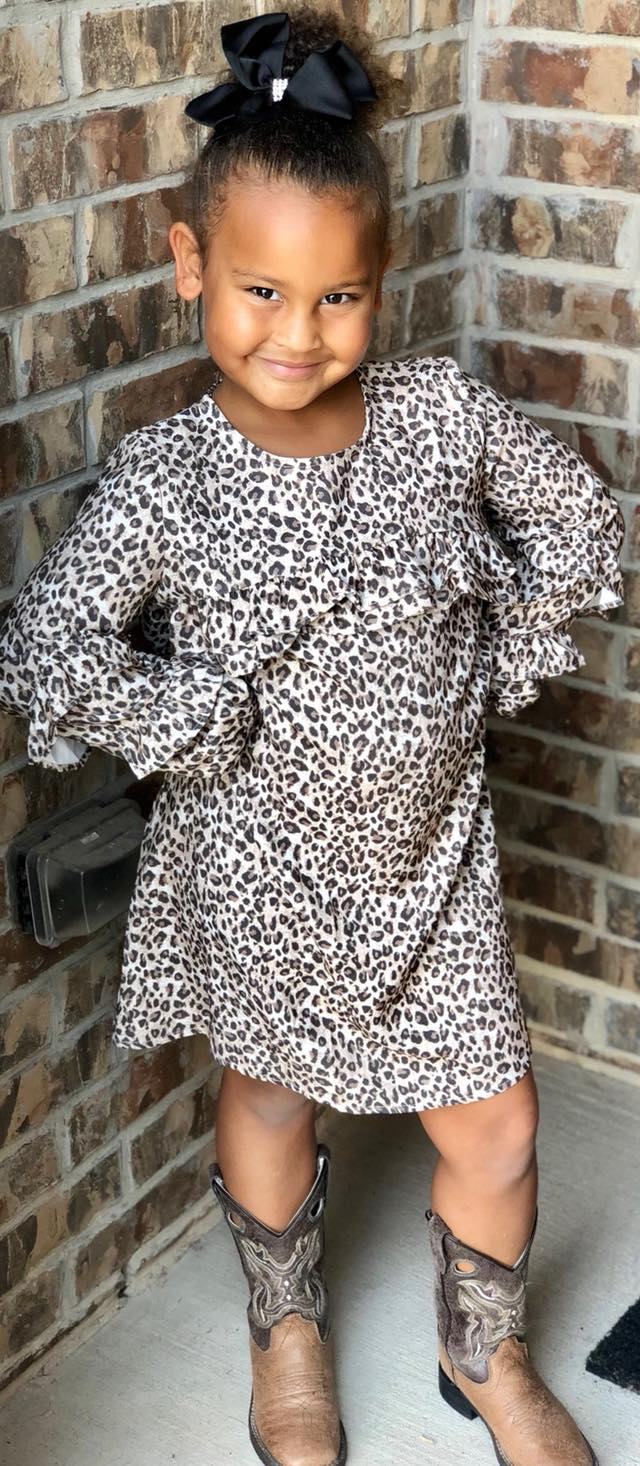 Mayoral Choclate Leopard Dress