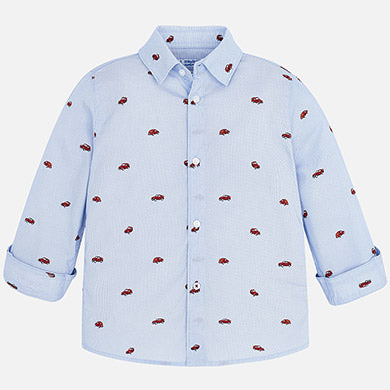 Mayoral Long Sleeve Boys Truck Shirt