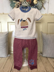 Bonnie Jean Boys Dog Face Pants Set