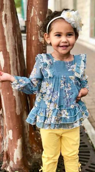 Isobella & Chloe Four Seasons 2 Piece Set-Toddler-Blue | FALL 2018 PREORDER