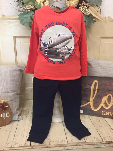 Mayoral Long Sleeve Airplane Shirt