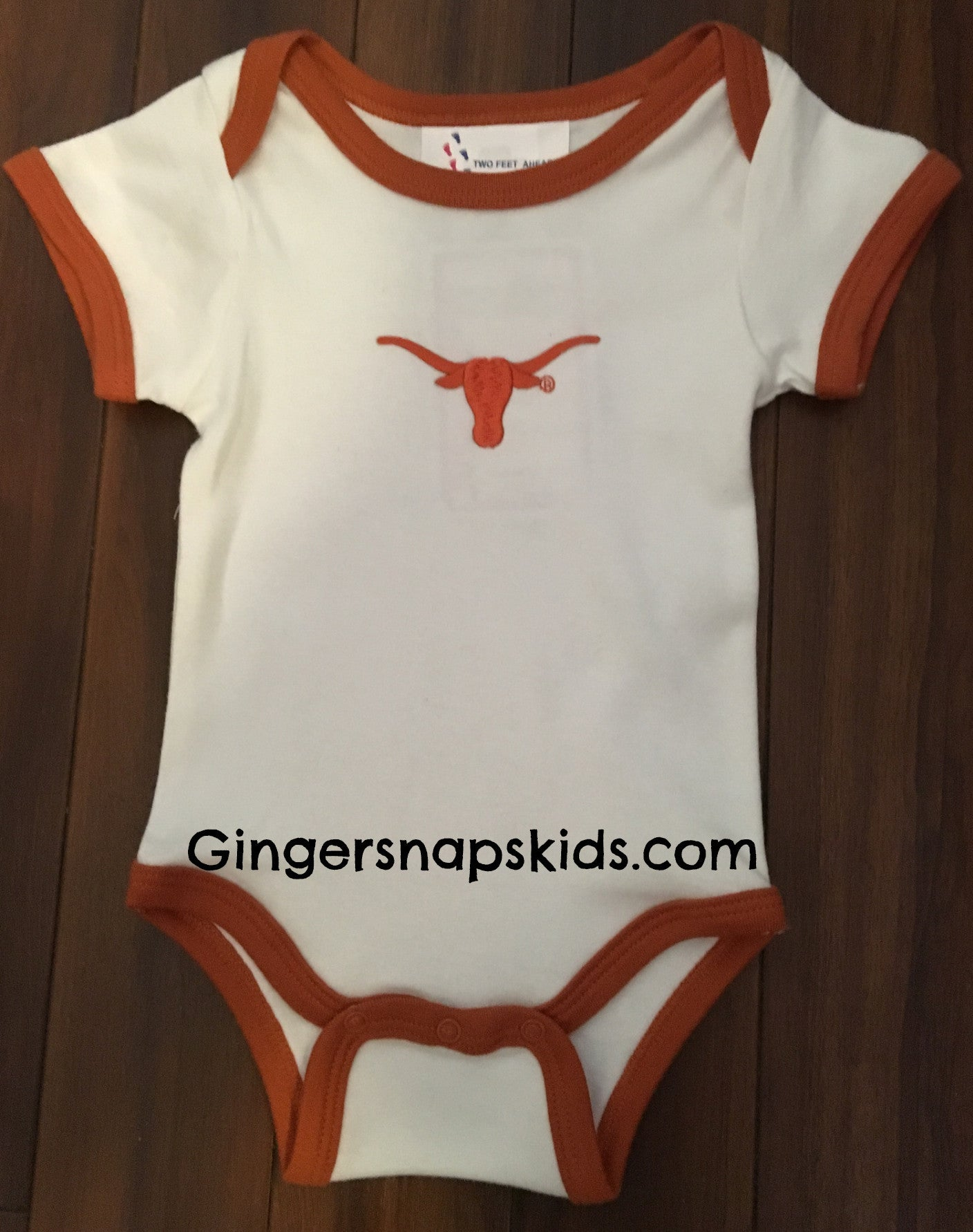 University of Texas Lap Shoulder Ringer Onesie (sz NB)