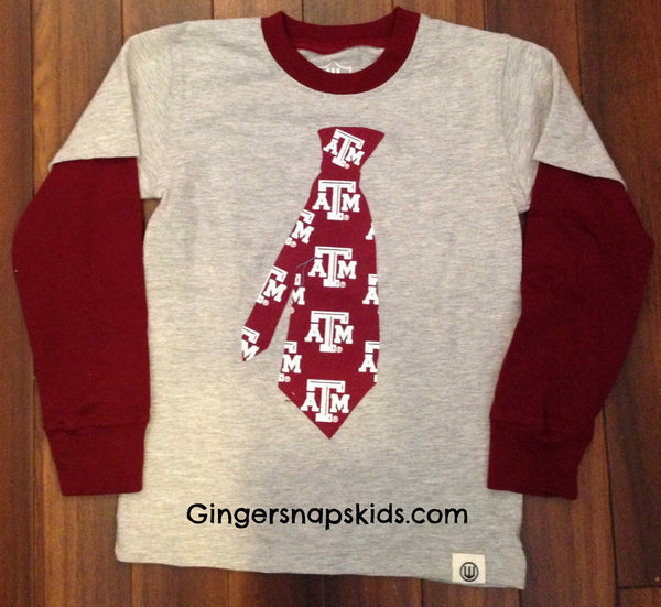 Wes and Willy Texas A&M Tie 2 in 1 Tee Shirt (sz. 4T-5)
