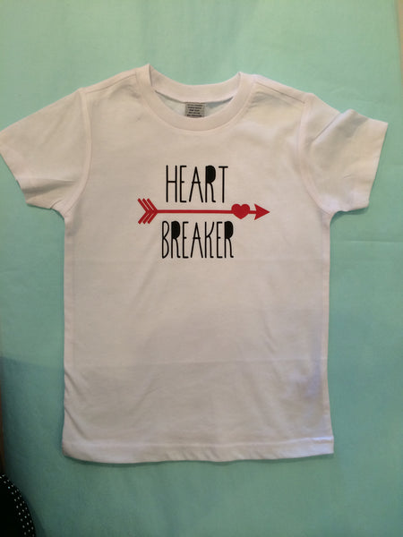 Heart Breaker Short Sleeve Shirt sz 2t-4t