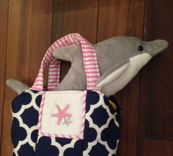 Seaside Sparkle Purse with Dolphin
