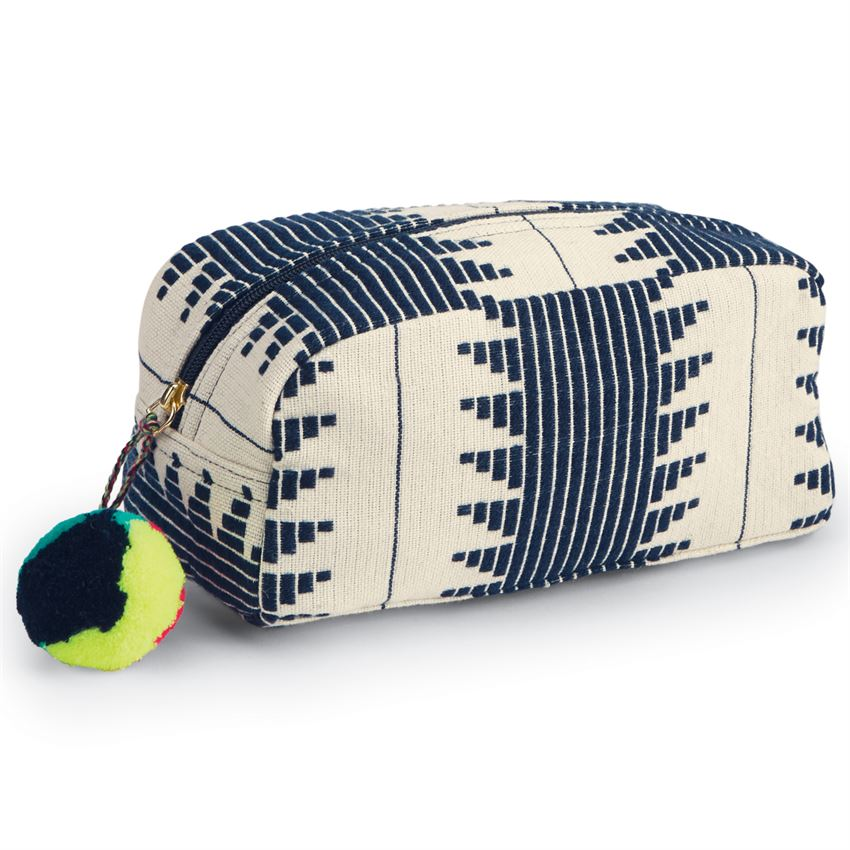 Mud Pie Aztec Cosmetic Case - Navy |PREORDER|