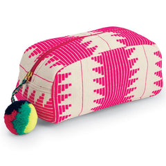 Mud Pie Aztec Cosmetic Case - Pink |PREORDER|