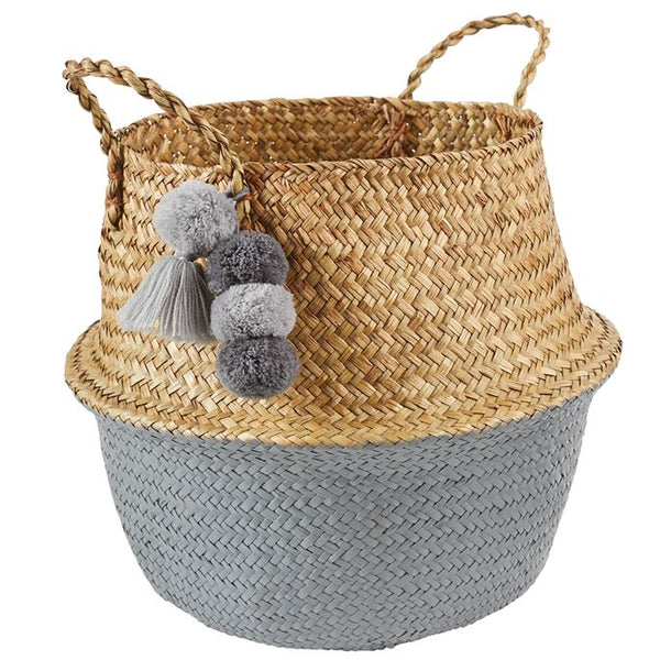Mud Pie Neutral Collapsible Basket - Grey |PREORDER|