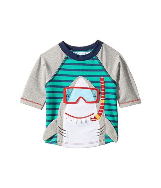 Mud Pie Shark Rash Guard Swim Top |PREORDER|