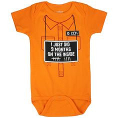 I've just done 9 months on the inside Unisex Jail Onesie 0/6m