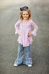 Ruffle Girl Puppy Love Pant Set