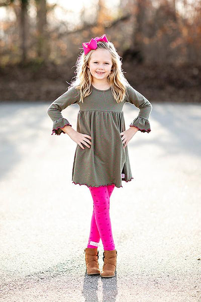 Ruffle Girl Madison Rose Leggings Set