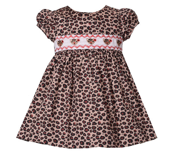 Bonnie Jean Leopard Smocking Dress