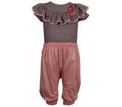 Bonnie Jean Striped Snapsuit Pants Set