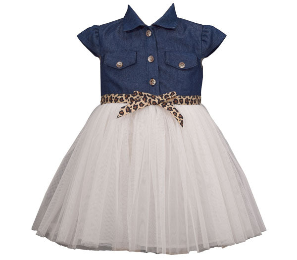 Bonnie Jean Denim Tulle Dress