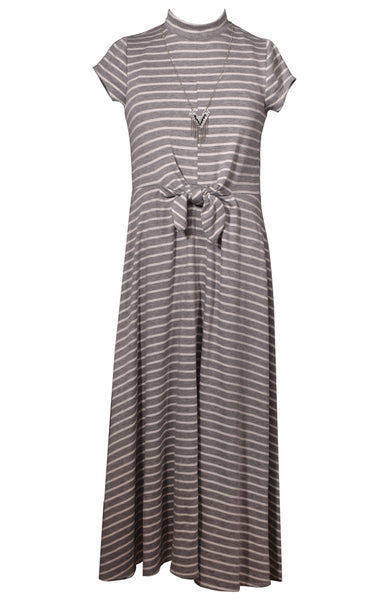 Bonnie Jean Striped Knit Maxi Dress