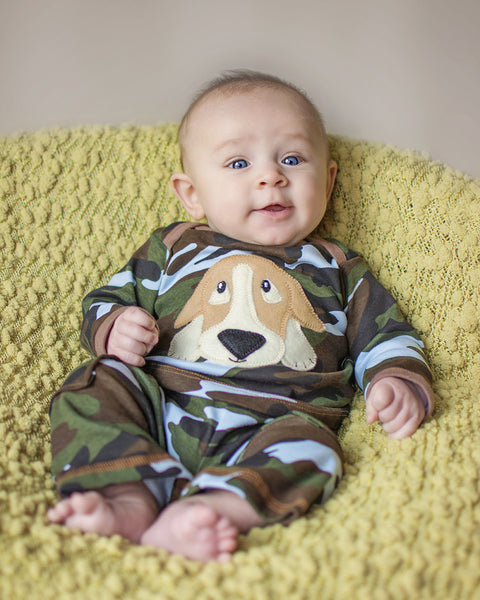 Haute Baby Buddy Boy Camo Dog Pant Set (sz 0/3m-4t)