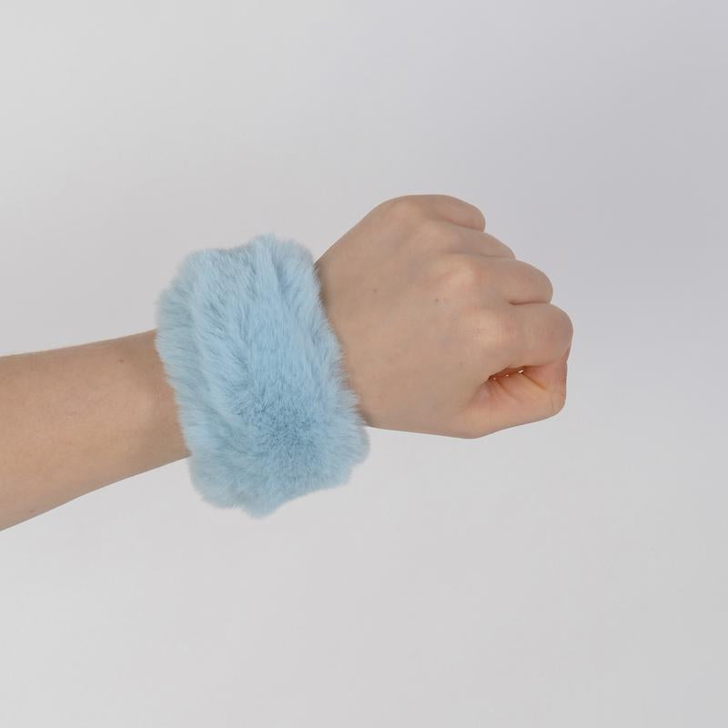Blue Cotton Candy Slap Bracelet - Fuzz