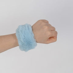 Blue Cotton Candy Slap Bracelet - Fuzz'd by Watchitude