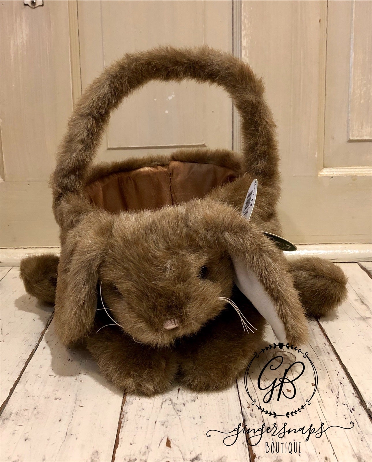 Buddy Bunny Easter Basket from The Bearington Collection