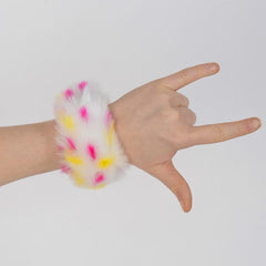Candy Leopard Slap Bracelet - Fuzz'd by Watchitude