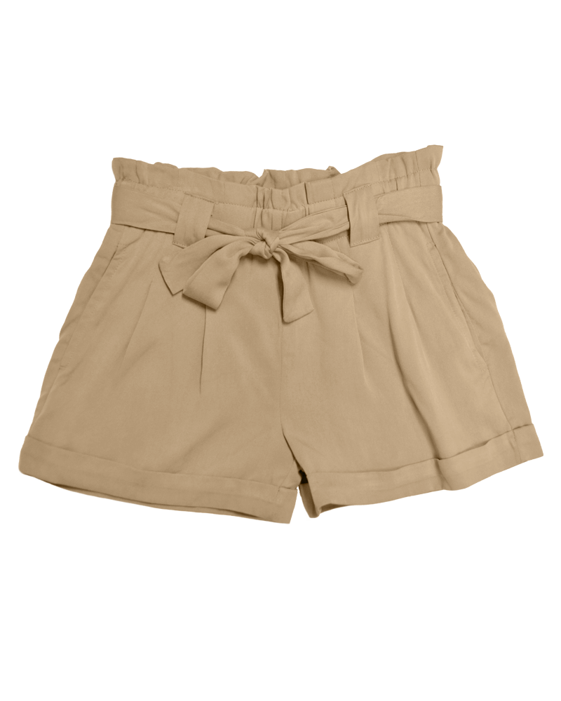 Edina Sash Shorts - Tan