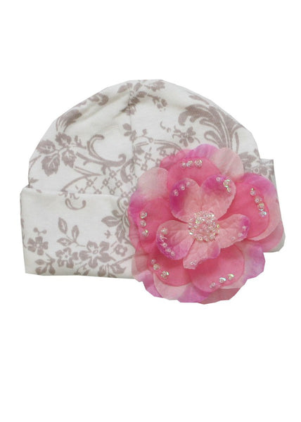 Haute Baby Girls Dream Puff Cap/Hat Sz 0/3mo- 6/9mo