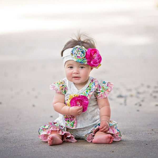 Floral Fantasy Infant Girls Criss Cross Set | PREORDER