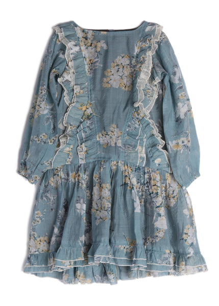 Isobella & Chloe Four Seasons Dress-Girls Blue | FALL 2018 PREORDER