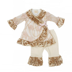 Haute Baby Ivy Rose Criss Cross Set (sz 0/3m-24m)