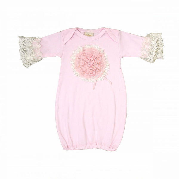 Haute Baby Pink Lullabye Gown (sz 0-3m)