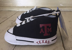 Texas A&M University High Top Prewalker Shoes (0-12m)