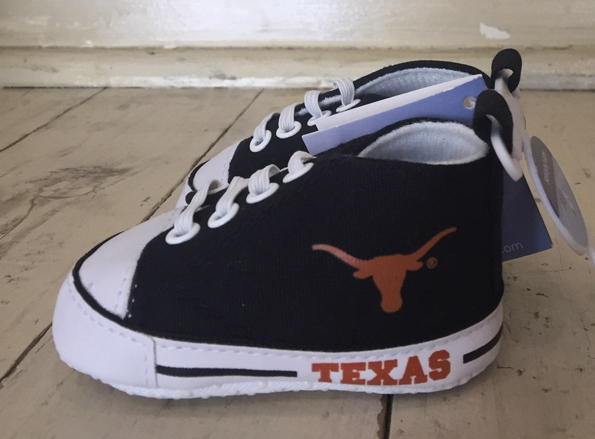 University of Texas High Top Prewalker Shoes (0-12m)