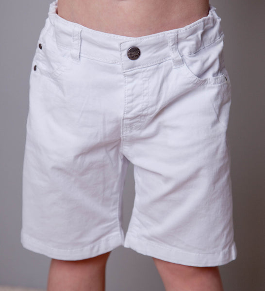 Mayoral Boys White Basic 5 Pocket Shorts (sz 2-7)