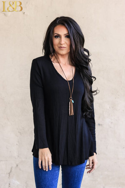 L&B Long Sleeve Tunic - Black