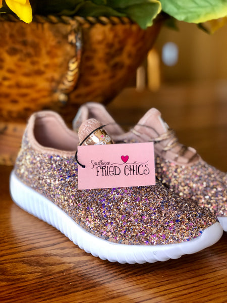 Snickerdoodle Glitter Bomb Tennis Shoes |PREORDER|