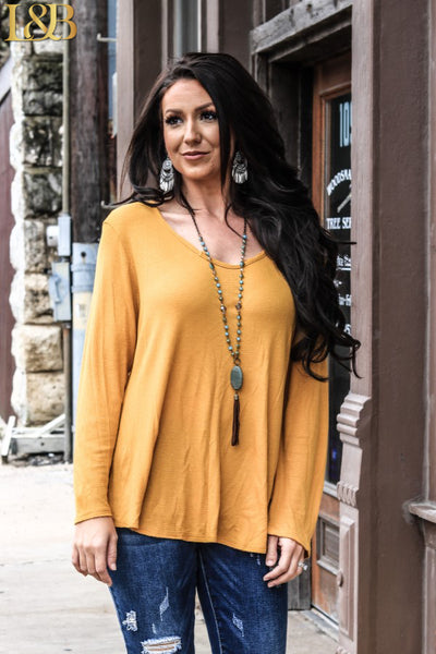 L&B Long Sleeve Tunic - Mustard