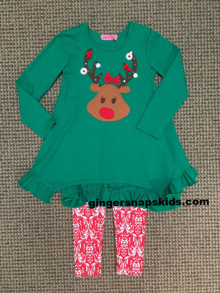 Haven Girl Reindeer Tunic & Leggings Set (sz 2-10)