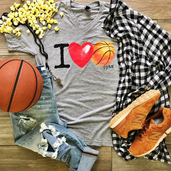 I Heart Basketball Mommy & Me Tee (MOMMY) |PREORDER|