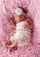 Newborn Dusty Rose Pink Pettiromper