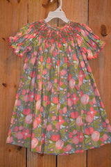Three Sisters Clothes In Full Bloom Smocked Bishop Dress