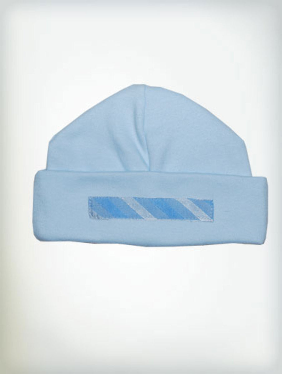 Haute Baby Little Boy Blue Flap Cap Sz 0-3mo