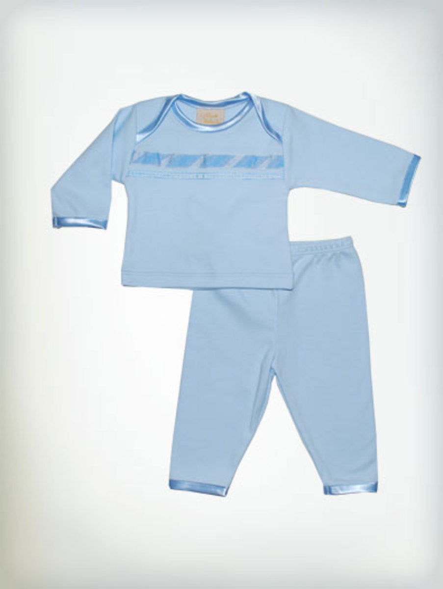 Haute Baby Little Boy Blue Leggings Set Sz 0-3mo